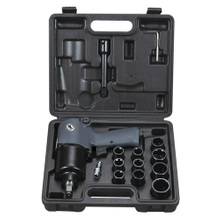15PC 1/2'' Professional Air Impact Wrench Kit (AT-240K)