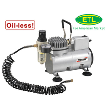 1/8 HP Oiless Airbrush Compressor (AS18MF-1)